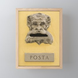 Original demon italian mail box Firenze Tuscany Italy Framed Mini Art Print