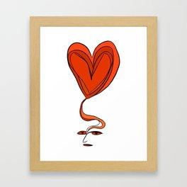 Amor en Mente Framed Art Print