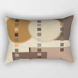 Neutral Abstract Rectangular Pillow