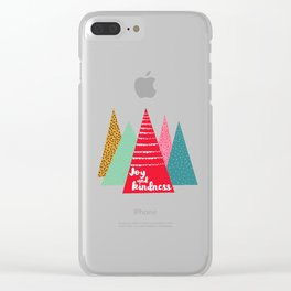 Joy and Kindness Holiday Clear iPhone Case