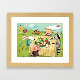 Veggie Grill Out Framed Art Print