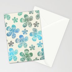 Storied Flowers blue edition Stationery Cards