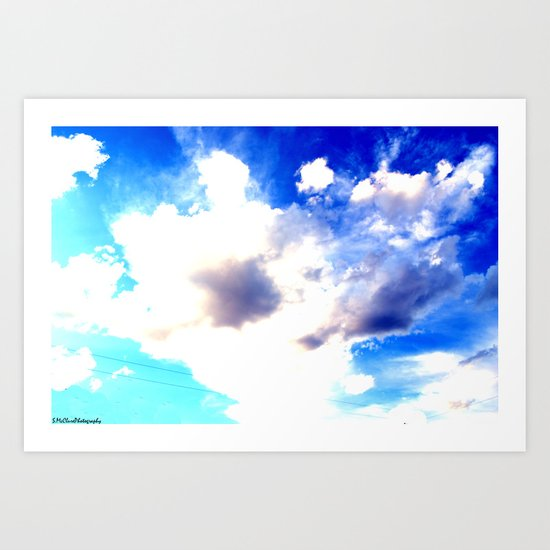 Blue Skies Will Never Fade Art Print