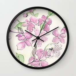 Purple Profusion Wall Clock