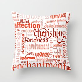 What Is Love Synonyms For Love Word Cloud Throw Pillow