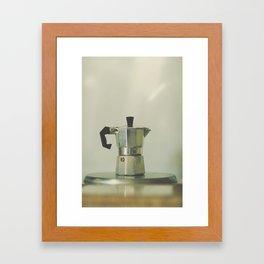 Italian moka pot. Framed Art Print