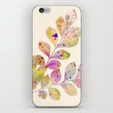 pastel leaves iPhone Skin