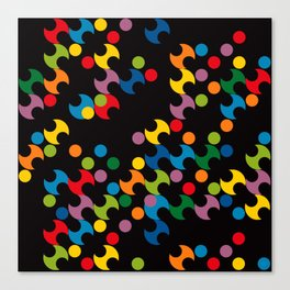 DOTS - polka 2 Canvas Print