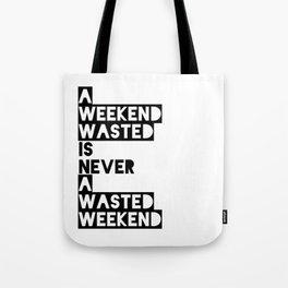 A Weekend Water (Black) Tote Bag