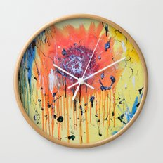 Bleeding poppy Wall Clock