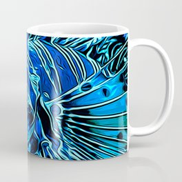 lionfish vector art blue Coffee Mug