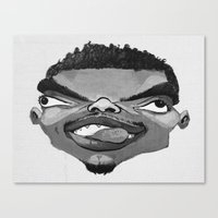 chance the rapper Canvas Prints featuring Chance the Rapper by Josephine Guan