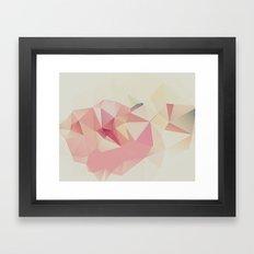 Feminine Polygon Art Framed Art Print