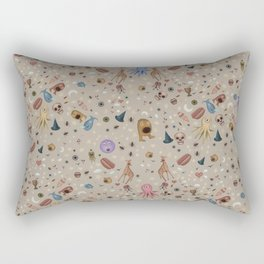 Dreams & Nightmares (on Khaki Beige Background)  Rectangular Pillow