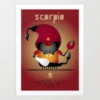 scorpio Art Prints featuring SCORPIO by Angelo Cerantola