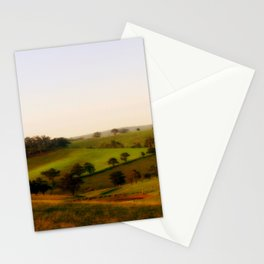 Morning shadows over the Alpine Ranges Stationery Cards