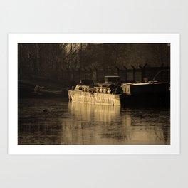 Working Barge Art Print