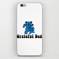 grateful dead iPhone & iPod Skins featuring Grateful Dad 2.0 by Grace Thanda
