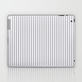 Lilac Gray Stripes Laptop & iPad Skin