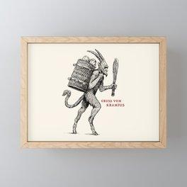 Gruss vom Krampus Framed Mini Art Print