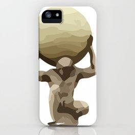 Man with Big Ball Illustration white iPhone Case