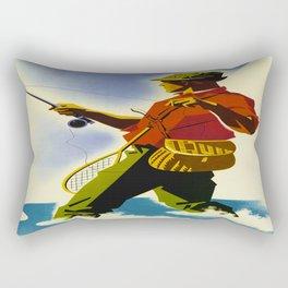 Colorado Fly Fishing Travel Rectangular Pillow