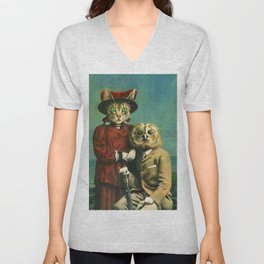 The Owl And The Pussy Cat Unisex V-Neck