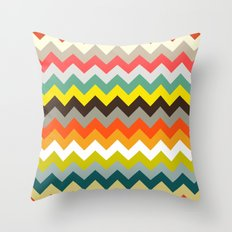 retro chevron Throw Pillow