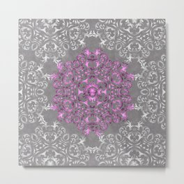 Mandala Pattern with Glitters II Metal Print