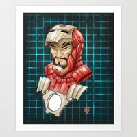 ironman Art Prints featuring Ironman by Fernando Cano Zapata