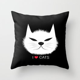 PERSONALITY OF A CAT Throw Pillow