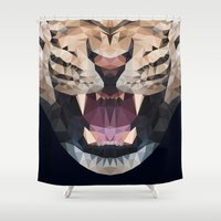 leopard Shower Curtains featuring LEOPARD by swtdrw