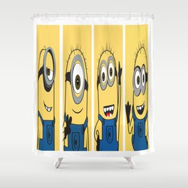Famous Cartoon Characters No. 10-13 Shower Curtain
