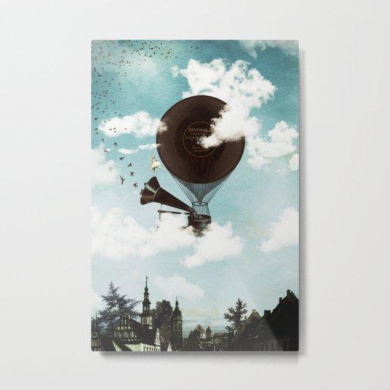 Swan Lake Up in the Air Metal Print
