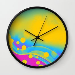 Pansexual Pride Simple Abstract Falling Radiance Wall Clock