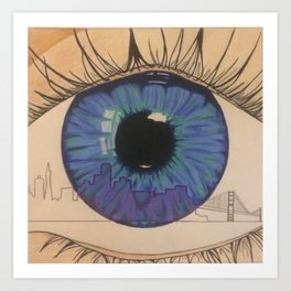 Eyes To San Francisco Art Print