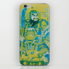 Chinese Warrior God Poster iPhone Skin