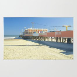 Daytona Beach photography art Rug