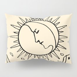 XVIII. The Moon Tarot Card on Parchment Pillow Sham