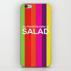 My favorite color is salad iPhone & iPod Skin