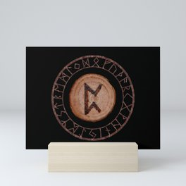 Perthro Elder Futhark Rune of fate and the unmanifest, probability, luck, nothingness, the unborn Mini Art Print