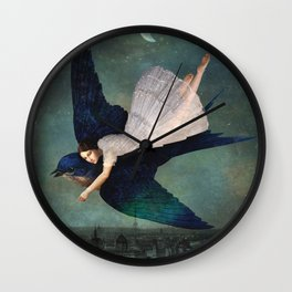 fly me to paris Wall Clock