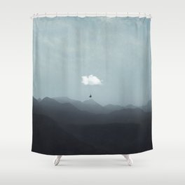 cloud  gliding Shower Curtain