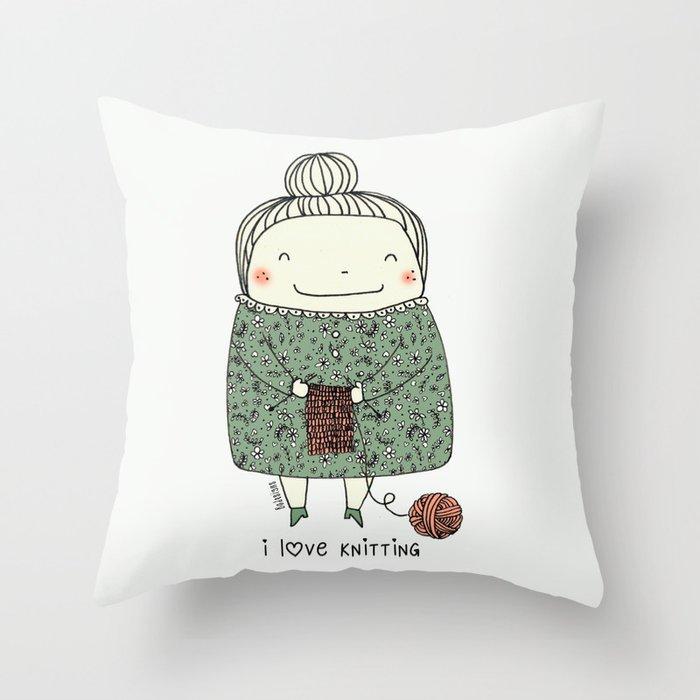 I love knitting Deko-Kissen