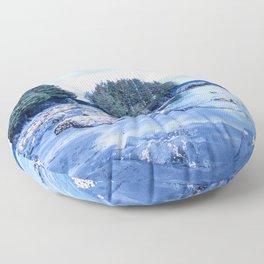 Spring Beach Photography Print Floor Pillow