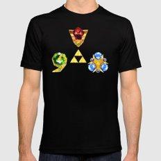 The Timeless Legend of Zelda Inspired Spiritual Stones Black Mens Fitted Tee MEDIUM