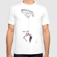 'By a thread' MEDIUM Mens Fitted Tee White