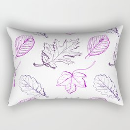 Leaves (purple) Rectangular Pillow