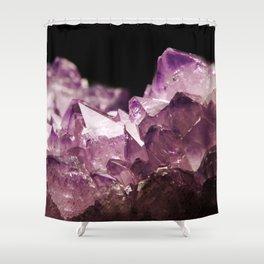 Amethyst Quartz Shower Curtain