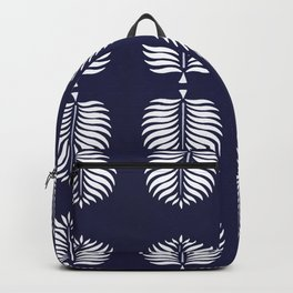 TROPICAL PALMS . BLUE Backpack